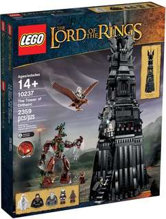 LEGO 10237 LOTR The Tower of Orthanc (brand new but no minifigure)