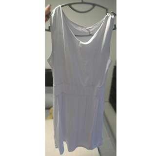 Simple soft pure white dress
