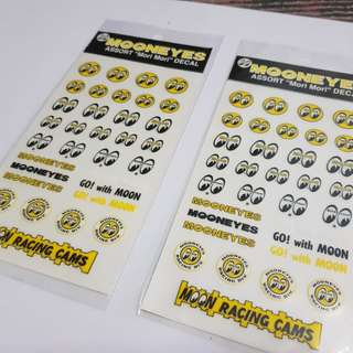 Mooneyes racing decals