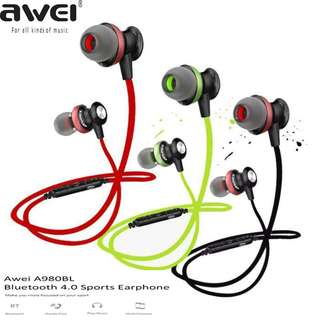 Noise Isolation Wireless Bluetooth Earpiece Awei A980BL