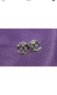 Chanel Paris Bombay Pierced Earrings in excellent condition