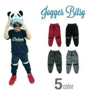 Celana jogger bitsy anak perempuan laki-laki