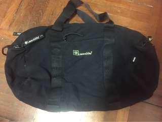 Laosmiddle黑色多格手提圓桶布袋