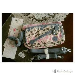 Kipling Milos Small Shoulder Bag with 2 straps in Dream Garden design