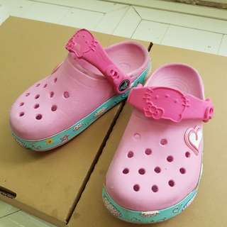 Crocs~Hello kitty兒童布希鞋(10 C11)