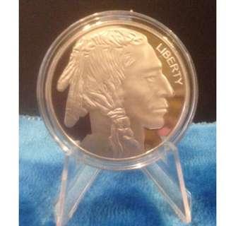 Native American Indian Silver Plated Coin/Token souvenir