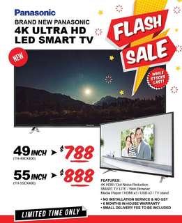 "49-55"" 4K UHD PANASONIC SMART TV"