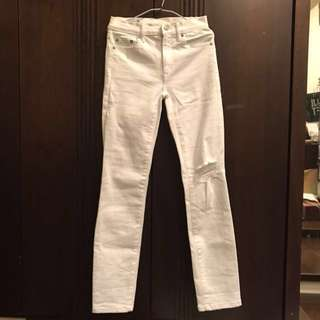 Gap白色牛仔長褲
