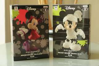 Mickey mouse and Minnie mouse 'Mummy Style' Figure