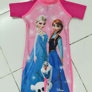 Frozen theme swimming suit (new)