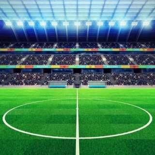 Stadium Audience Platform Green Soccer Field Football Court Photobooth Backdrop