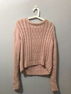 Sweater Rajut Pink (Used Once)
