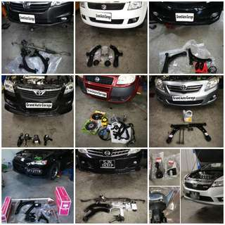 OEM BRAKE; ROTOR; ENGINE MOUNTING/ LOWER ARM; OIL LEAK REPAIR; COOLING COIL; ENGINE SERVICING
