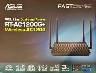 (BNIB) ASUS RT-AC1200G+ 802.11ac Dual-Band Wireless Router