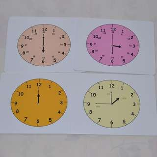 Shichida Teaching, 20 flash cards to teach time. Mandarin.
