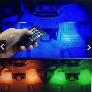 Wireless Remote Control Car RGB LED Neon Interior Strip Decorative