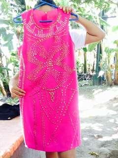 Pink beads dress