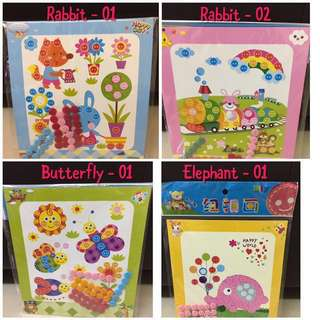 Goodie bag button art and craft kids 3