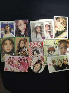 twice photocards 小卡