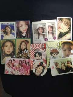 twice photocards 小卡