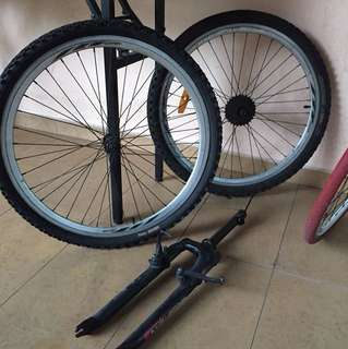 Exit way 26inch wheels and fork
