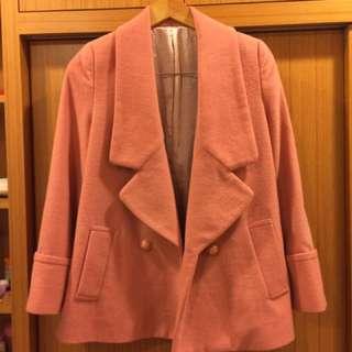 日牌原單西裝外套*粉膚色