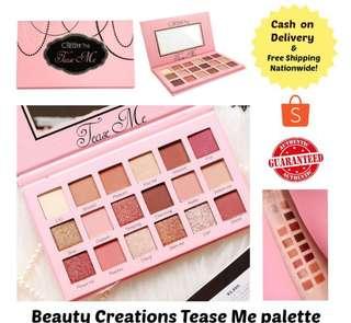 beauty creation tease me eyeshadow pallete
