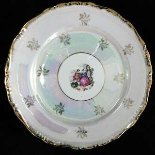 """10.5"""" Limoges """"Courting Couple"""" Deco Plate"""