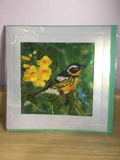 小鳥刺繡卡