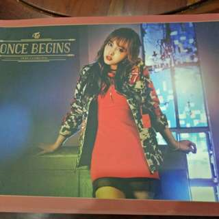 Ready stock twice poster once begins nayeon