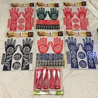 Henna + stencil set