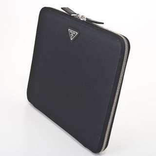 Genuine Prada Black Saffiano Leather iPad Air Case