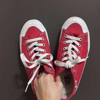 Vans sixty seven 紅色帆布鞋 古著 vintage