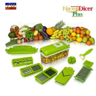Nicer Dicer Plus Multi-Function Vegetable Fruit Peeler Slicer Cutter