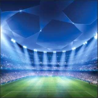 Champions League Soccer Stadium Photobooth Backdrop