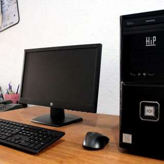 Desktop Set Core i7 3rd Gen 3.90ghz hp monitor windows 10 ready to use Free Deliver