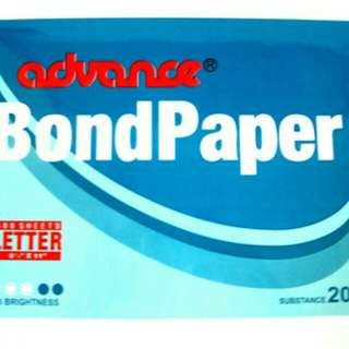 Bond Paper (Advance) 1 ream