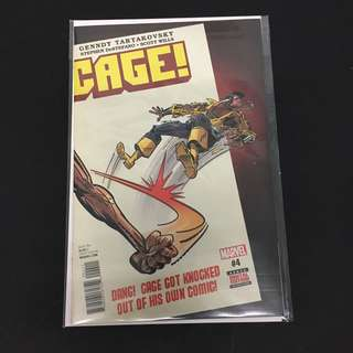Cage! 4 Marvel Comics Book Stan Lee Movie Avengers Heroes For Hire