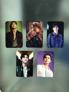 SALE! EXO ON HAND RANDOM UNOFFICIAL PHOTO CARDS