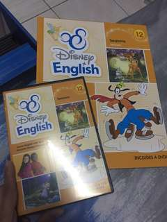disney english grolier book with dvd