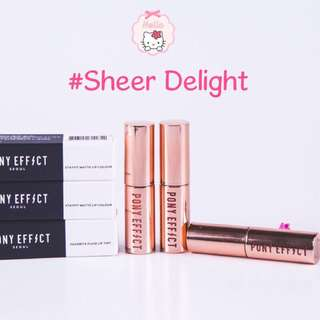✨INSTOCK! Pony Effect Favourite Fluid Lip Tint (Mini Lip Tint) #Sheer Delight Recommend by Pony!