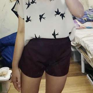 Repriced! Maroon / Red Shorts