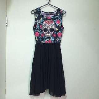 USA NEWBREED GIRL Skull One-Piece Dress (Size: Free) 連身裙