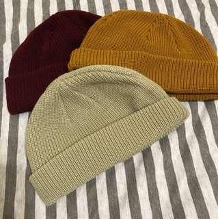 短毛帽 毛帽 瓜皮帽 針織帽