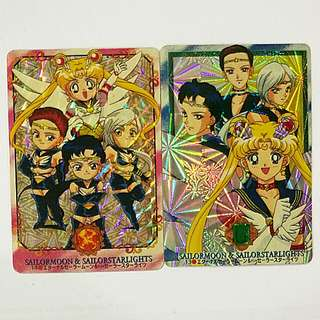 Sailormoon & Sailorstarlights vintage card sticker collection No.13&14