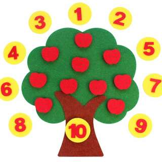 Kids Learning Toys Montessori Toys Apple Counting Tree