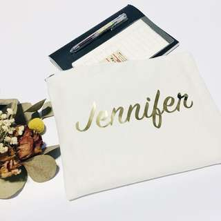 Personalised Custom Made Clutch Pouch Bag Bridesmaid Wedding Birthday