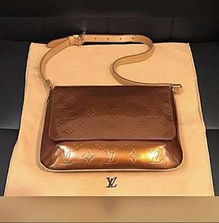 LV Handbag 全場最平LOUIS VUITTON Bronze Monogram Vernis Thompson Street Bag