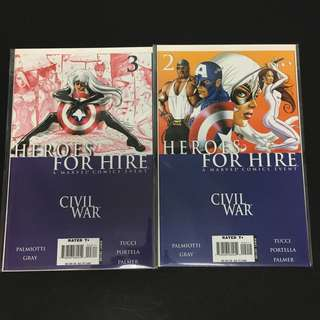 Heroes For Hire 2 & 3 Marvel Comics Book Avengers Movie