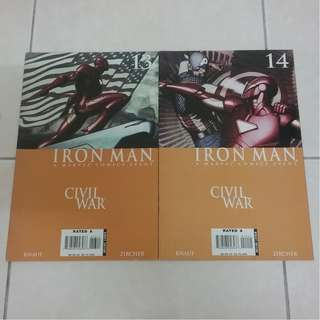 Iron Man #13 & #14 Civil War Arc